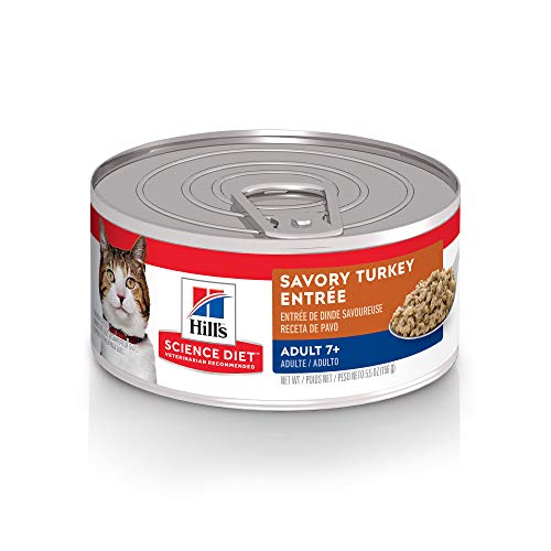 Hill s Science Diet Wet Cat Food, Adult 7+, 5.5 oz, 24-pack