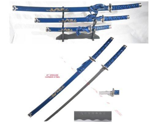 3 Pc Japanese Samurai Katana Sword Set Ninja