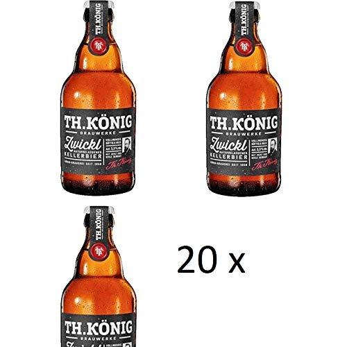 20 Flaschen a 0,33L TH.König Zwickl Kellerbier 5,3% inc. 1.60€ MEHRWEG Pfand