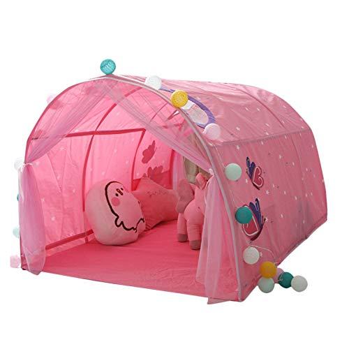 Brownrolly Kinderzelt Spielzelt,Spielhaus für Innen und Außen, Mini Cartoon Muster atmungsaktiv Starke Heimat Bettzelt mit Aufbewahrungstasche für Baby, Kinder, Jungen und Mädchen Geschenk für Kinder