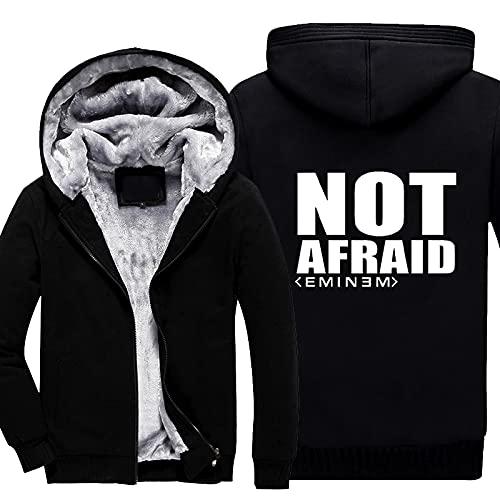 rgbh Sudadera con capucha para hombre - Eminem/Slim Shady Printed Jacket Warm Sweater Zipper Cardigan de manga larga abrigos uniformes de béisbol B-XXL