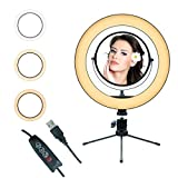 10' Ring Light Mirror with Tripod Stand and Cell...
