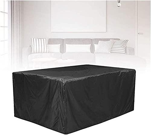 Terrasse Liegestühle Garten -Rattan -Sofa -Abdeckung All-Purpose Staubabdeckungen Wasserdicht Gartenmöbel Schutz,Verschiedene Größen (Farbe: Schwarz, Größe: 60 × 60 × 60 cm)