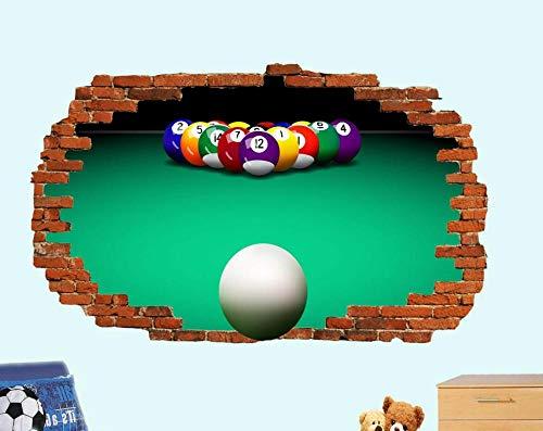 3DLookWandtattoo Billiards Billiards Pool Sports Poster 3D Art Mural Decoration Wandtattoo