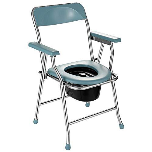 HBBZB Toilettenstühle Hilfstoilettensitze Klappbar Tragbare Mit Armlehnen Und Faeces Eimer Für Altere Personen Mit Eingeschränkter Mobilität