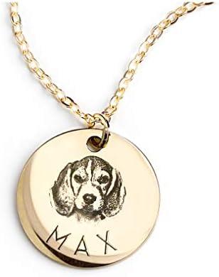 MignonandMignon Personalized Pet Gifts Custom Pet Jewelry Dog Necklace Cat Gift Custom Portrait Unique Gift LCN-AP