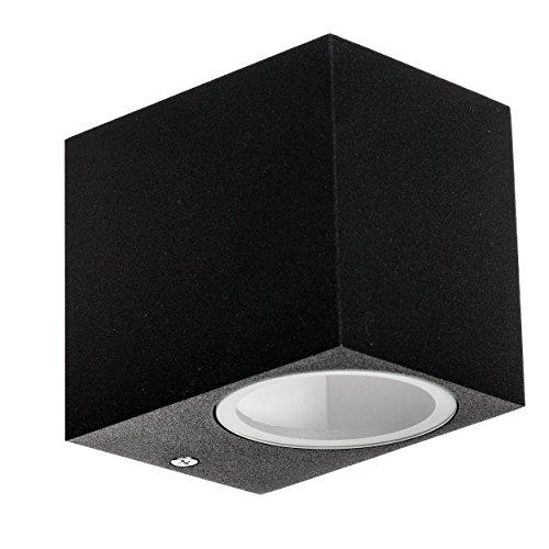 LED Aussenleuchte, 1-flammig LED Außenwandleuchte Schwarz, IP44 (LX57)