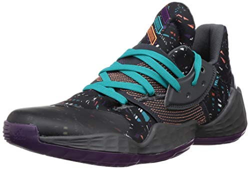 Adidas Performance Harden Vol. 4 - Scarpe da basket da uomo, nero/viola, 13.5 UK - 49 1/3 EU - 14 US