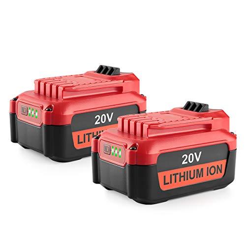 Powilling 2Pack 5.0Ah 20V Lithium Battery for Craftsman V20 Lithium Ion Battery CMCB202 CMCB202-2 CMCB204 CMCB204-2 Craftsman V20 Battery