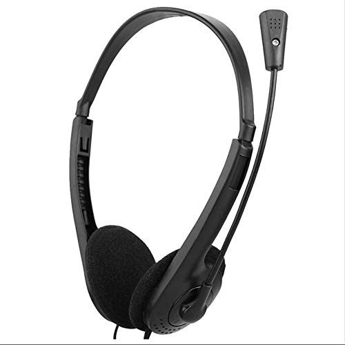 Purchase Wired Stereo Headset Noise Reduction Headset with Microphone and Adjustable Headband, Suita...