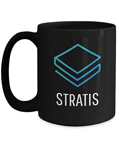 Officiell Stratis Cryptocurrency stor mugg akryl kaffehållare svart 325 ml krypto gruvarbetare blockkedja investering handel köp sälj Hold StrAT