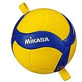 ミカサ(MIKASA) ゴムひも固定式アタック練習バレーボール 4号(中学生・婦人用) 黄/青 V400W-AT-TR