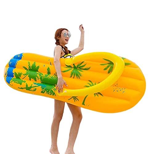 XBSXP Juguetes inflables para Piscina de PVC, Zapatillas con Forma de Flotador, Balsas flotantes para Piscina al Aire Libre, Juguete Inflable de salón Flotante para Fiestas de Verano par