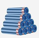 Tunnelzug Trash Taschen Home verwendet tragbaren verdickten großen Müllsäcke Einweg Starke Hoch Müllsäcke für das Büro zu Hause 10 × 15PCS,Blau