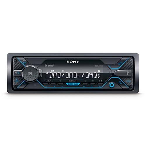 Sony DSX-A510BD Autoradio con Ricezione DAB/DAB+/FM, Dual Bluetooth, NFC, Siri Eyes Free, AUX e USB per iPhone e iPod, Android Music Playback, potenza 4x55 W, File FLAC