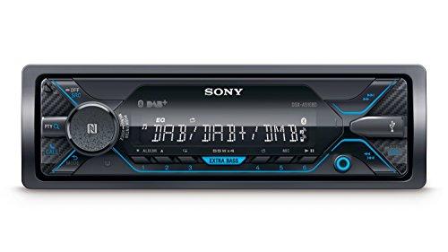 Sony DSX-A510 DAB+ Autoradio | Dual Bluetooth, NFC, USB und AUX Anschluss | Blaue Beleuchtung | Freisprechen und Streaming