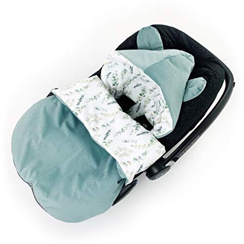 Saco de dormir para sillita de coche para bebé, para verano, salvia