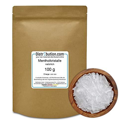 100 g Mentholkristalle aus 100% Minzöl, Sauna Aufguss/Duft, reines Menthol, intensiv und wohltuend