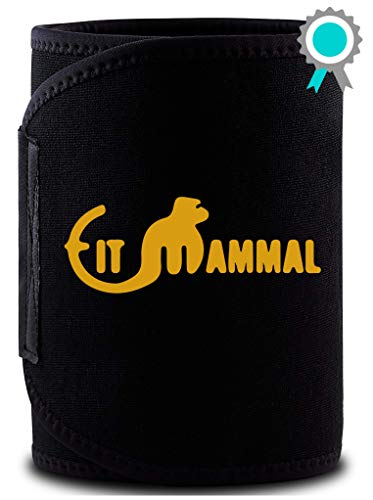 Fit Mammal Sweat Slim Belt- 1 Year Warranty- Sweat Belt for Men and Women- New and Improved Black