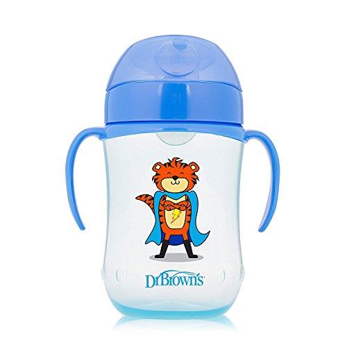 Dr Brown's Soft Spout - Taza para niños (270 ml), color azul