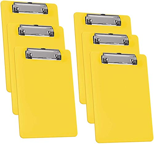 Acrimet Clipboard  (Yellow Color) (6 Pack)