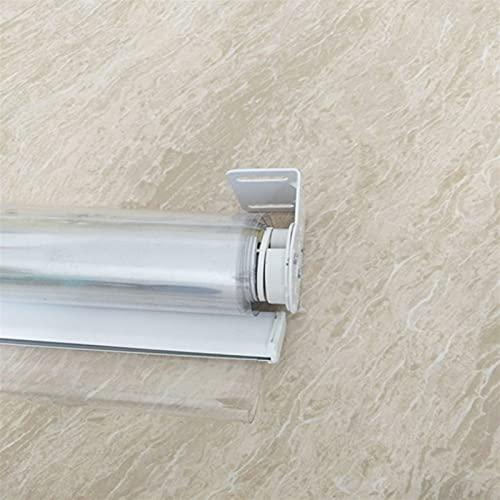 Cortina de ventana de alta calidad para oficina con aislamiento térmico, impermeable, transparente, 60/80/100/120/140 cm de ancho, plástico, instalación rápida