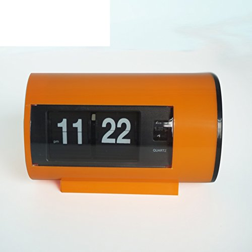 Auto Flip Clock Wohnzimmer Schlafzimmer Studie Clock kreative Desktop-Uhr [Stockuhr] Wecker-A