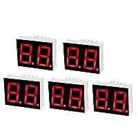 uxcell LEDデジタル表示管 10ピン 2ビット 7セグメント 25 x 19 x 8mm 5個入り
