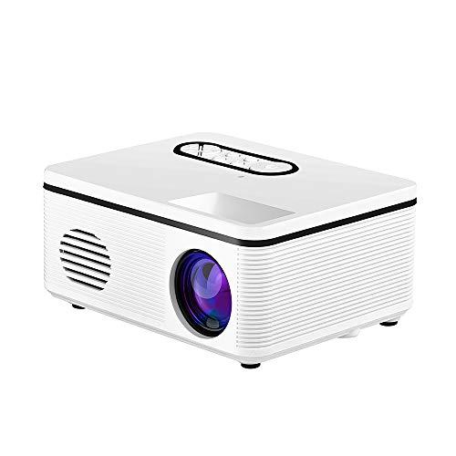 OWEM Proyector,1000 Lúmenes 1080P Full HD LED Proyector (1920 x 1080) Compatible con AV/VGA/USB/HDMI/TF, Proyector de Cine en Casa,White,EU