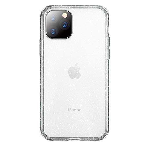 LWL House Shiny Series Funda Protectora de TPU + PC a Prueba de Golpes Case for iPhone 11 Pro Durable (Color : Transparent Silver)