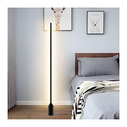 WYZ FLOOR LICHT Vloerlamp - Moderne Minimalistische Vloerlamp Nordic Fashion Woonkamer Slaapkamer Bedkant Creatieve Persoonlijkheid Verticale Zwarte Vloerlamp [Energie klasse A +]