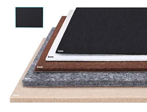 Besbuy Hojas de Fieltro con Respaldo de Adhesivo, 8 Piezas, Grosor 1 mm-5 mm, para Cojines para Muebles Arts Crafts Multiusos (Negro 15 × 20 cm)