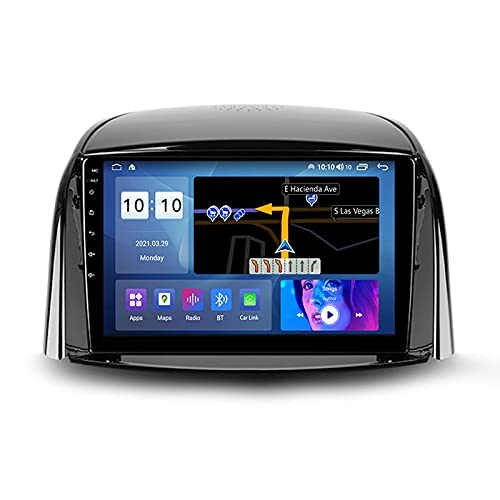 ADMLZQQ Autoradio Android Bluetooth 2 DIN Radio De Coche 9'' Pantalla Táctil WiFi Plug and Play Completo RCA Soporte Carautoplay/GPS/Dab+/OBDII para Renault Koleos 2008-2016,M500s