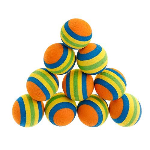 Juego de 10 juguetes de goma EVA suave interactivos para gatos, cachor