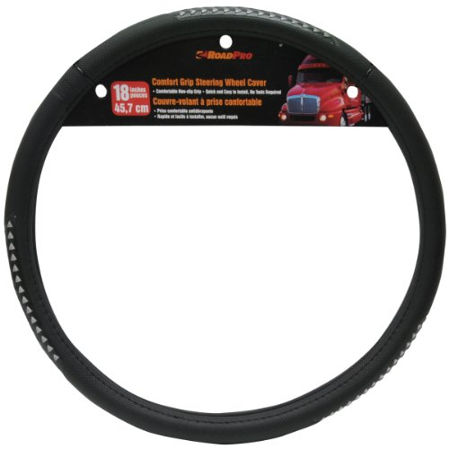 RoadPro RPSW-3002 Black 18' Comfort Grip Steering Wheel Cover
