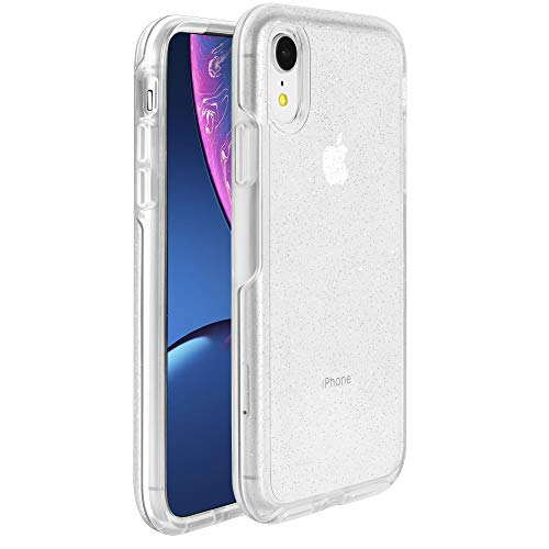 Krichit Phone Protective Case, Ongoing Clear Series Case for iPhone XR Case, Anti-Drop Shock Absorption for Apple iPhone XR Case (Silver Flake/Clear, iPhone XR)