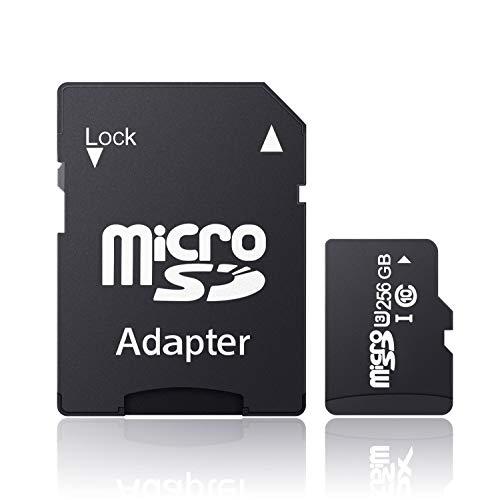 Tisumfacai Micro SDXC Card U3 ビデオクラス V30 対応 超高速ファイル転送 マイクロ SD カード U3 C10 5年保証-A (256GB)