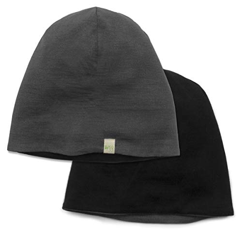 Minus33 Merino Wool Reversible Shade Beanie Black/Charcoal Grey One Size