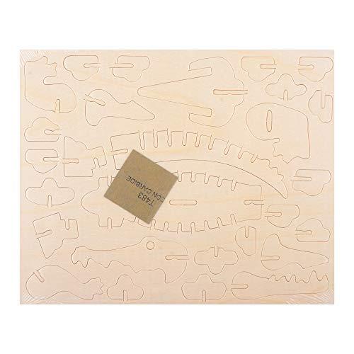 Georgie Porgy 3D Holz Puzzle Tier Bausteine für Kinder Puzzle pädagogisches Spielzeug Geschenk (JP227 Krokodil)