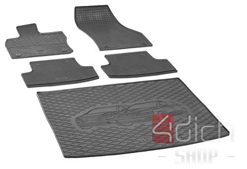 Passgenaue Kofferraumwanne und Gummifußmatten geeignet für SEAT Ateca 4x4 ab 2016 + Autoschoner MONTEUR
