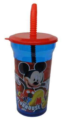 Learn More About Disney Mickey Mouse Clubhouse Water Bottle with Straw Party Favor