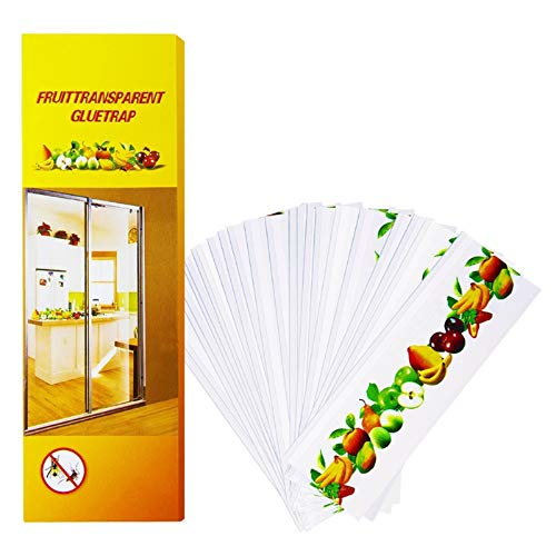 Stingmon 12 Packs Bug & Fly Clear Window Fly Traps, Sticky Fly Strip Fruit Fly Traps Indoor Catcher for House Flies, Non-Toxic