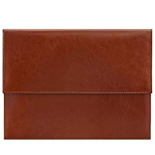ROYALZ Vintage Leder Schutztasche für Apple iPad Air 4 Schutzhülle (iPad Air 2020) 10.9 Zoll Tablet Sleeve Tasche Hülle Cover, Farbe:Braun