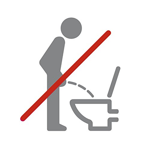 Wandora Wandtattoo WC Piktogramm im Sitzen pinkeln I Silbergrau (BxH) 11 x 12 cm I Bad Badezimmer Toilette Sticker Aufkleber Wandaufkleber Wandsticker G032