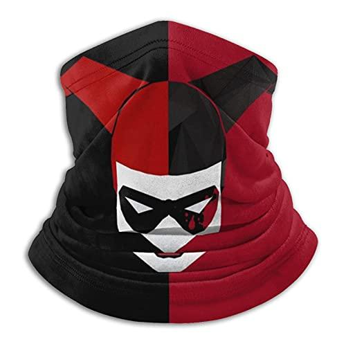 MZZhuBao Harley Quinn - Polaina máscara facial pasamontañas pañuelo a prueba de polvo corte UV calentador de cuello ajustable para hombre mujer negro