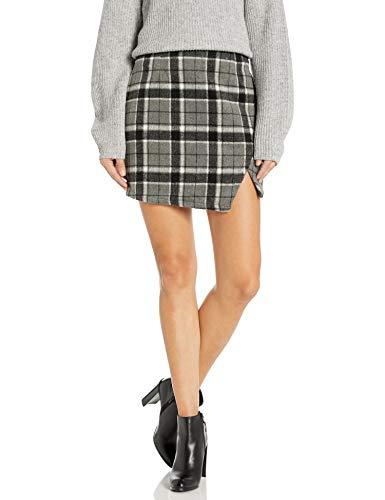 The Fifth Label Women's Treble Check Mini Skirt, Grey W Black, s