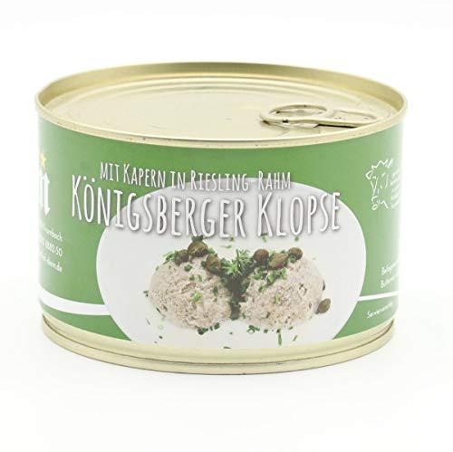 Königsberger Klopse vom Milchkalb mit Kapern in weisser Riesling Rahm Soße 400g Dose