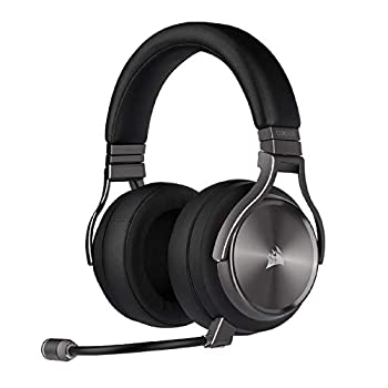 Corsair Virtuoso RGB Wireless SE Gaming Headset - High-Fidelity 7.1 Surround Sound with Broadcast Quality Microphone - Memory Foam Earcups - 20 Hour Battery Life Works w/ PC MacOS PS5 - Gunmetal
