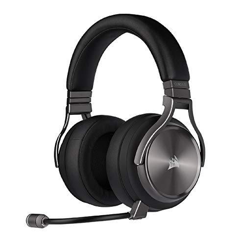 Corsair Virtuoso RGB Wireless SE Gaming Headset - High-Fidelity 7.1 Surround Sound w/Broadcast Quality Microphone - Memory Foam Earcups - 20 Hour Battery Life Works w/ PC, PS5, PS4 - Gunmetal