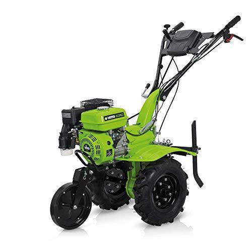 VITO 7PS Benzin Motorhacke Direktantrieb - Pflug + Bodenfräse 115cm Arbeitsbreite
